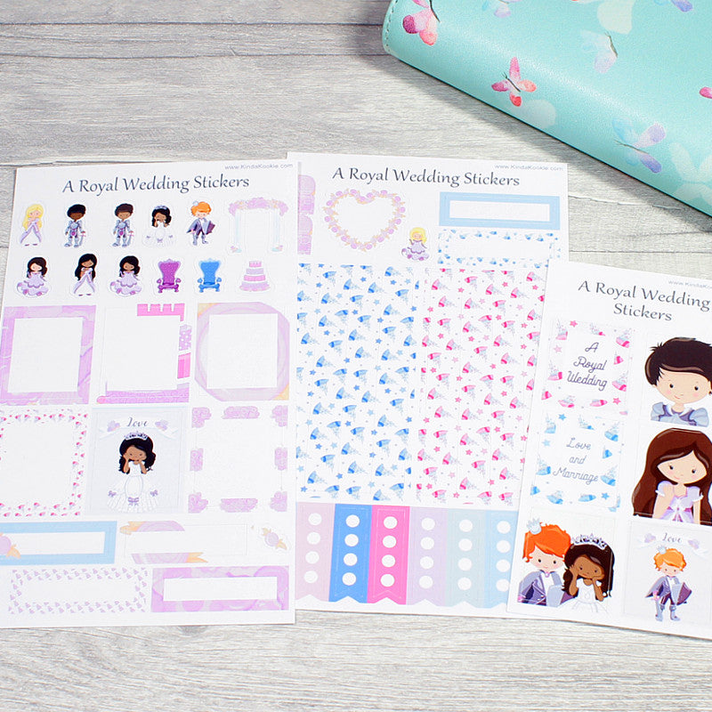 Royal Wedding Planner Layout Stickers by KindaKookie