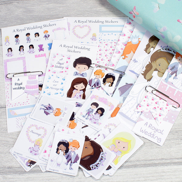 Royal Wedding Stickers and Stationery Bundle