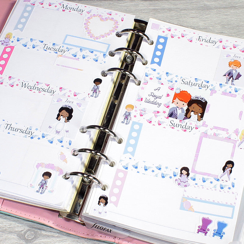 Royal Wedding Horizontal Planner Layout by KindaKookie
