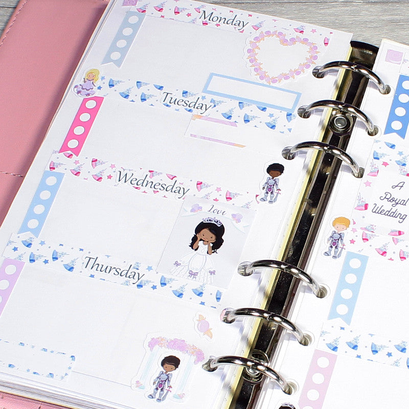 Royal Wedding Diary Journal and Notebook Stickers by KindaKookie