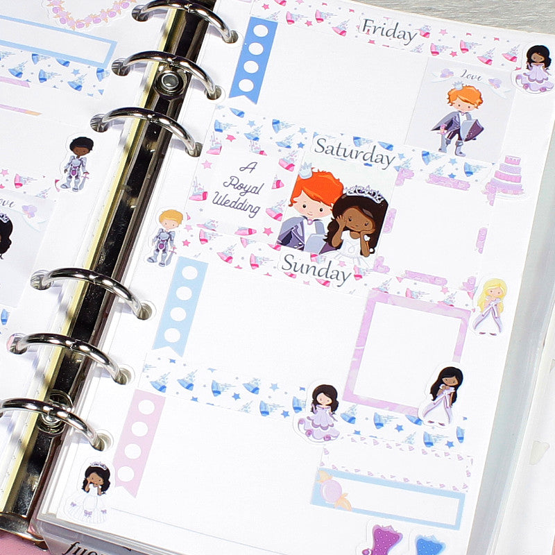 Royal Wedding Horizontal Planner Stickers by KindaKookie
