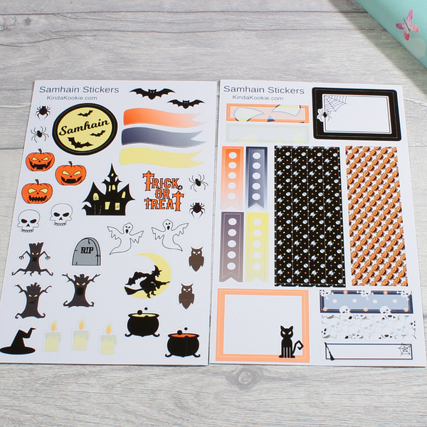 Samhain Pagan Holiday Notebook Journal Planner Stickers by KindaKookie