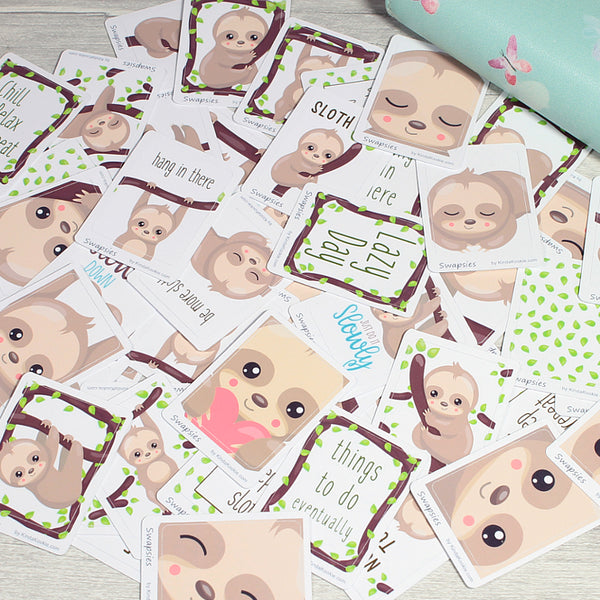 Cute Fun Sloth Stickers for Happy Mail and Planners by KindaKookie
