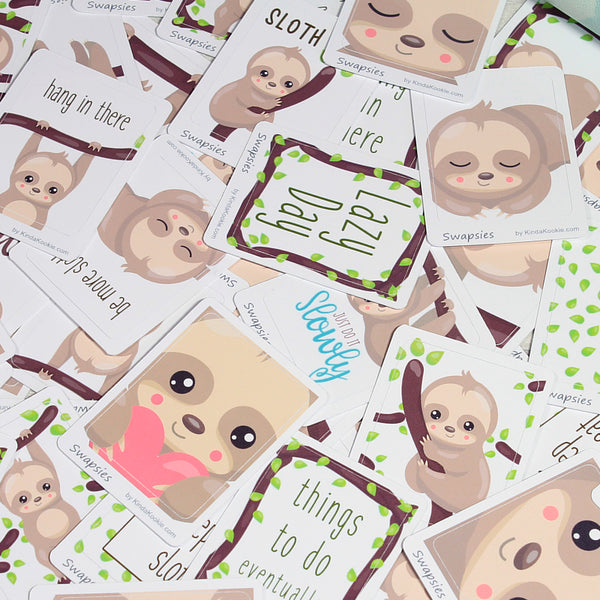 Cute Sloth Stickers Perfect For Sticker Swaps and Penpals or Planners by KindaKookie