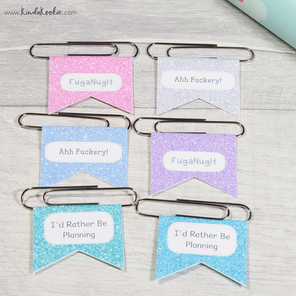 Adult Swear Word Humourous Office Stationery Paper Clips Planner Clips by KindaKookie