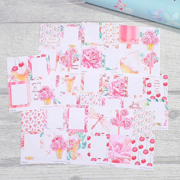 Sweet Summer Minis Stickers for Monthly Mini Happy Planner Layouts, Pocket Letters and Penpal Swaps by KindaKookie