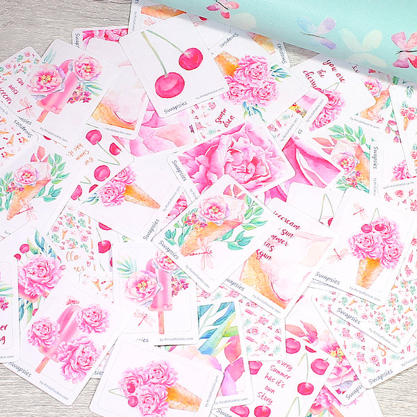 Sweet Summer Swapsies Stickers for Happy Mail, PenPal Swaps and Pocket Letters by KindaKookie