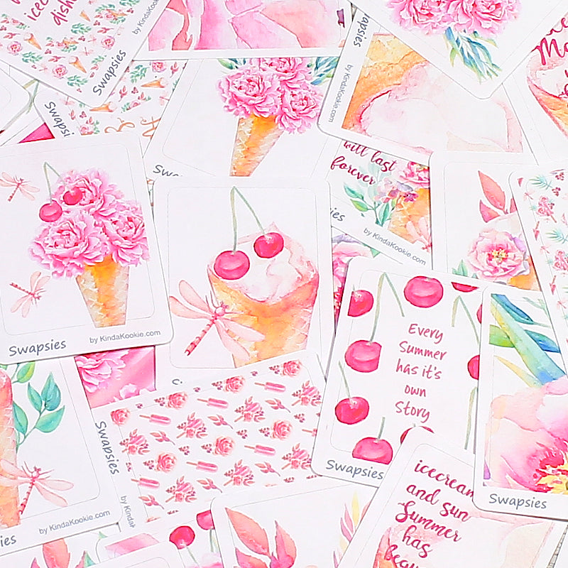 Sweet Summer Swapsies Sticker Packs for Happy Mail, Pocket Letters, Swaps and Planner Decoration by KindaKookie