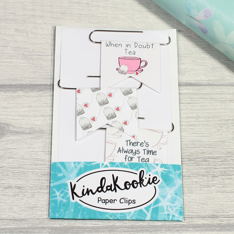 Time for Tea Paper Clips Planner Clips by KindaKookie