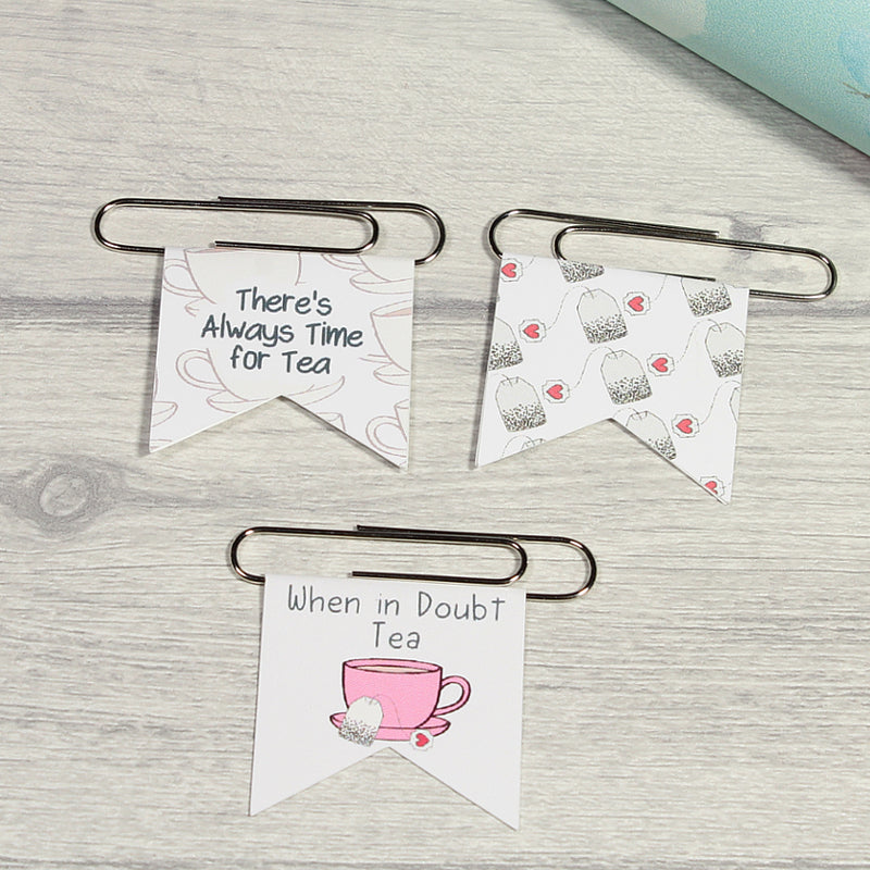 Time For Tea Office Stationery Paper Clips by KindaKookie