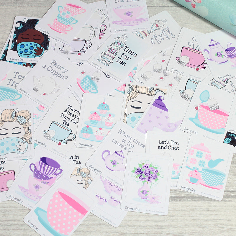 Time For Tea Swapsies Happy Mail Penpal Stationery Stickers by KindaKookie
