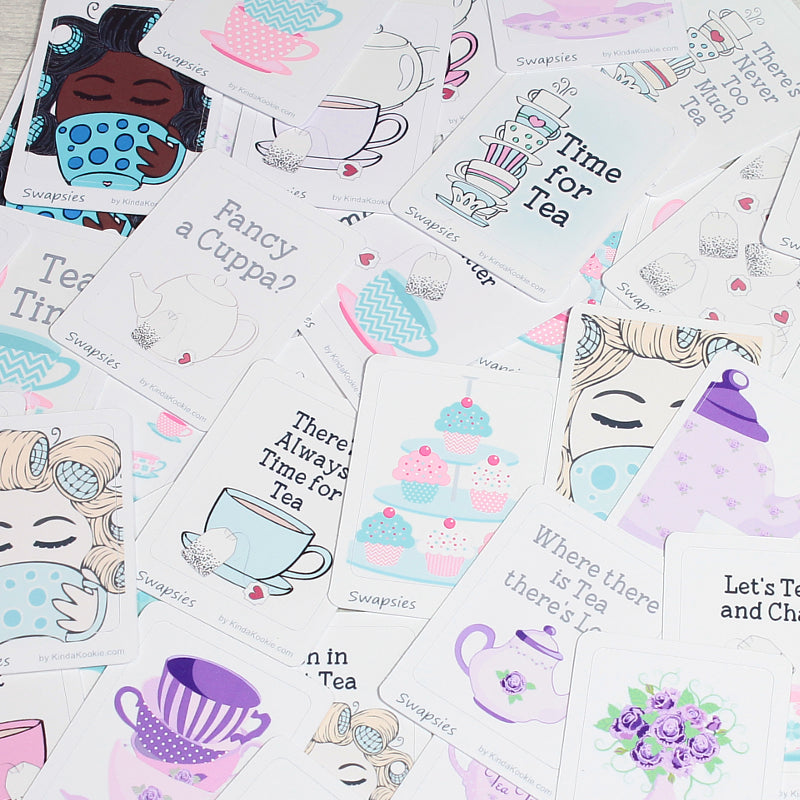 Time For Tea Swapsies Happy Mail and Planner Stickers by KindaKookie