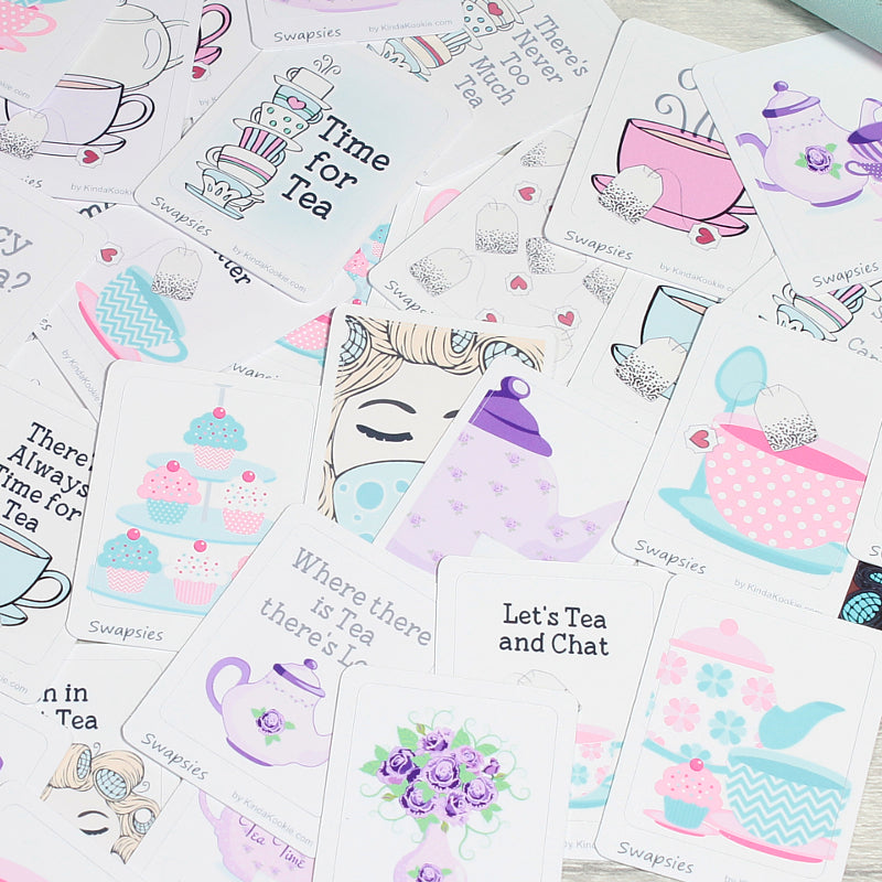 Time For Tea Stationery Penpal Happy Mail Planner Stickers by KindaKookie