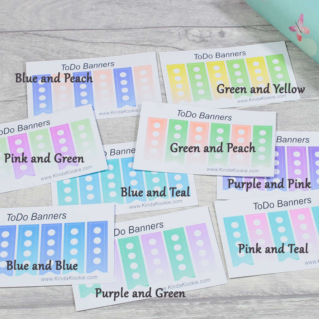 Colour Choices To Do ToDo Task List Functional Notebook, Diary, Journal, Planner Stickers by KindaKookie