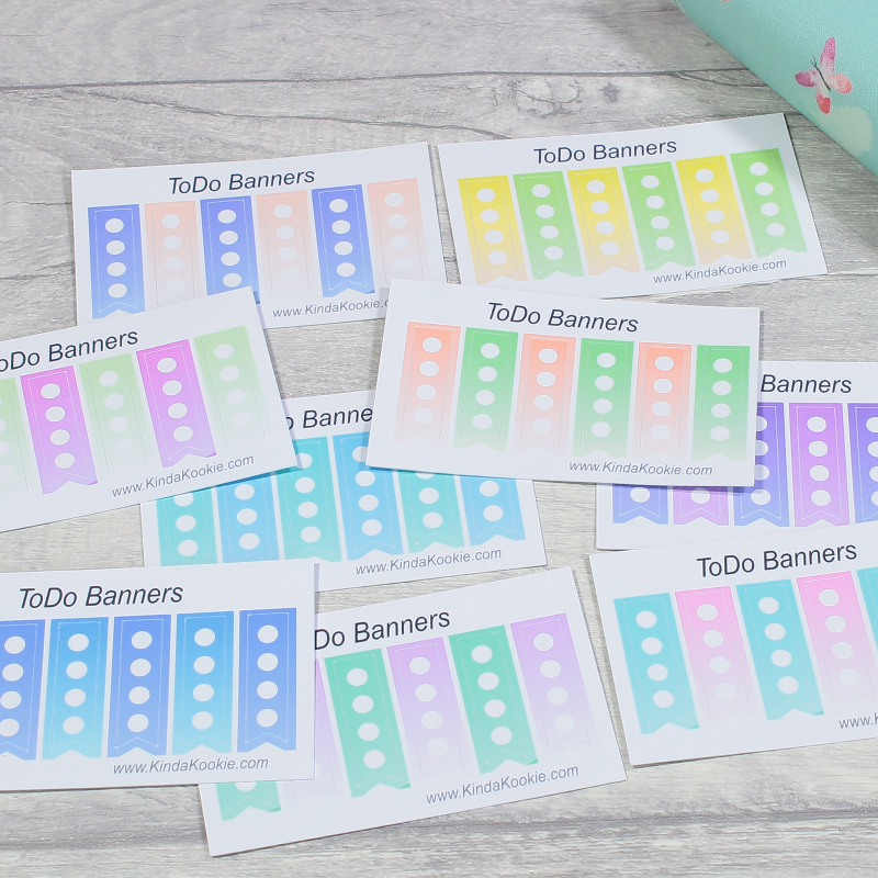 List Tracker To Do Stickers for Journals, Diaries and Planners. Office Stationery by KindaKookie
