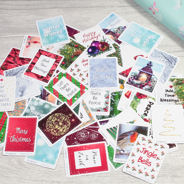 Yule and Traditional Christmas Themed Swapsies Stickers for Planners and Happy Mail or PenPal Swaps by KindaKookie