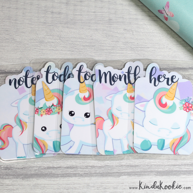 Unicorn Bookmarks. Keepsake, Pen Pal and Happy Mail Gifts by KindaKookie