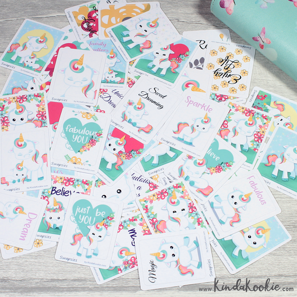 Unicorn Happy Mail and Pen Pal Swapsies Stickers by KindaKookie