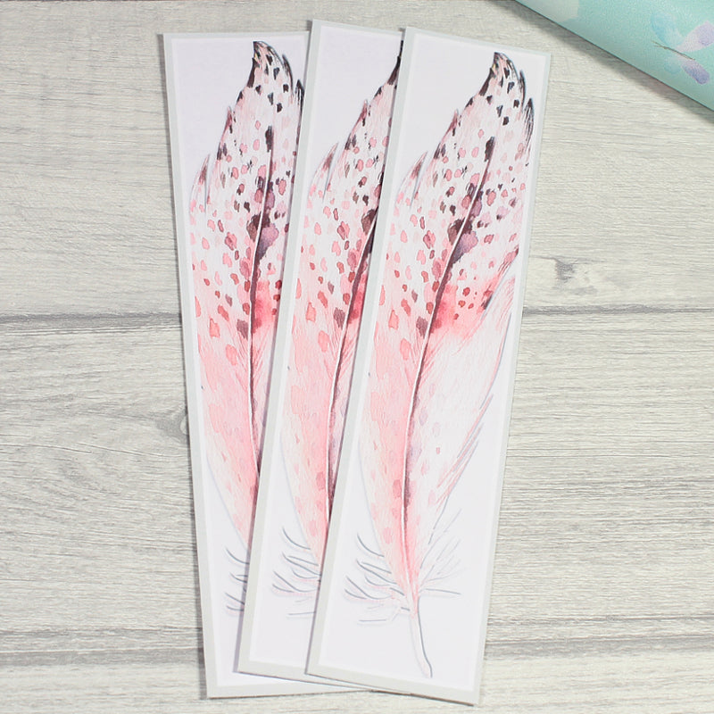 Winter Owl Feather Printed Bookmark by KindaKookie