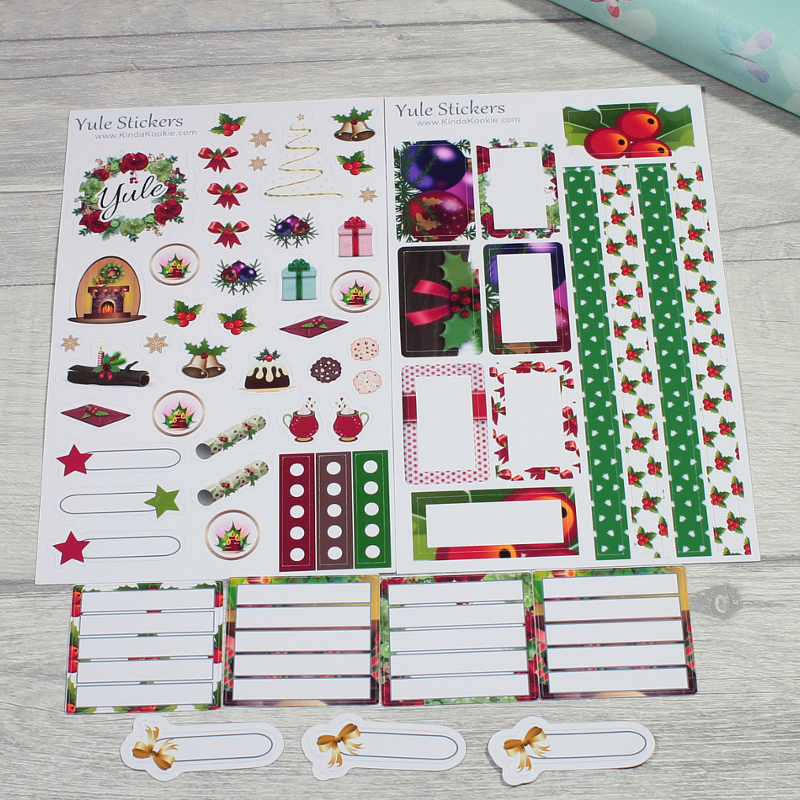 Traditional Christmas Planner Stickers and Yule Stickers for Diaries and Journals by KindaKookie