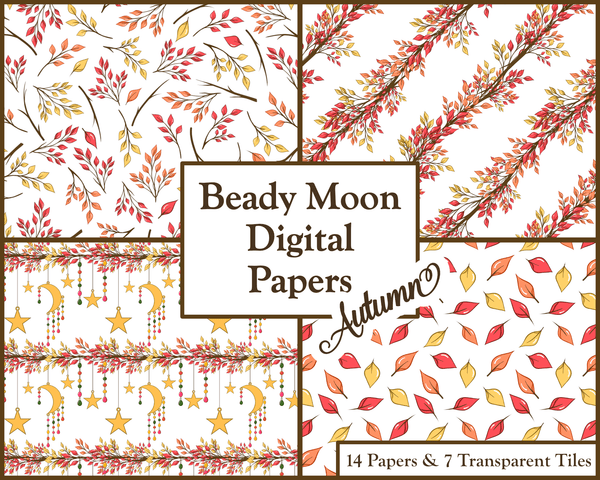 Autumn Fall Pagan Nature Digital Papers for Personal and Commercial Use