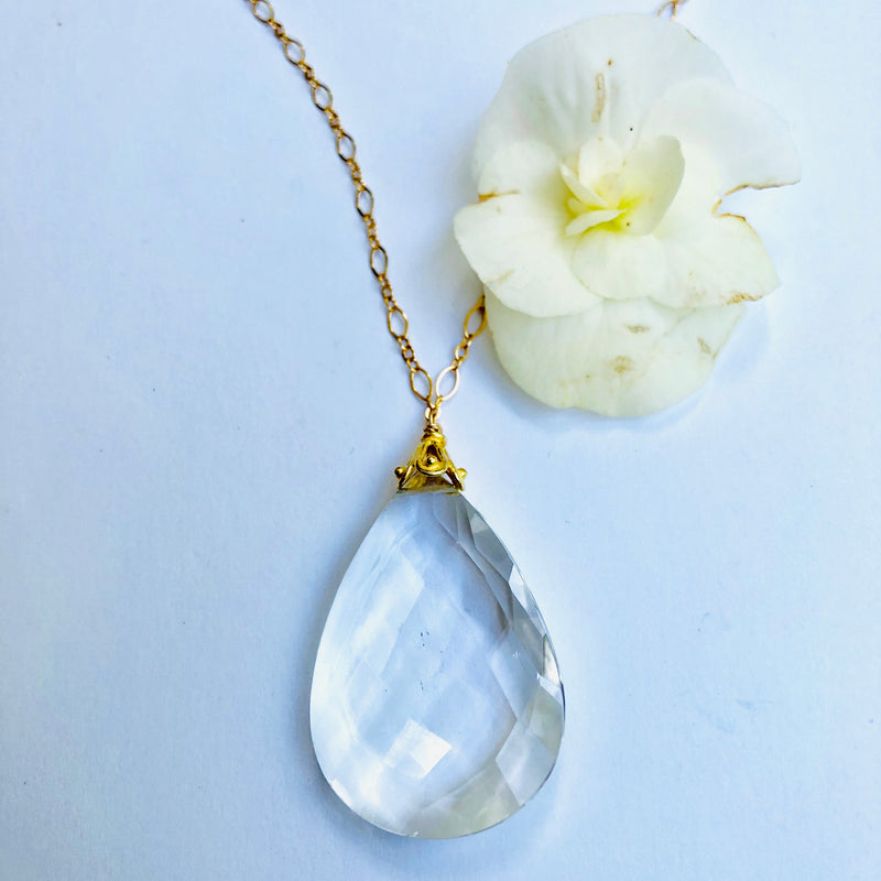 Large Crystal Drop Necklace