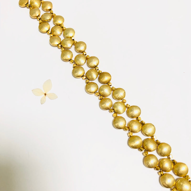 Chrochet Gold Dot Magnetic Choker