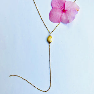Delicate Gold Chain Y Necklace
