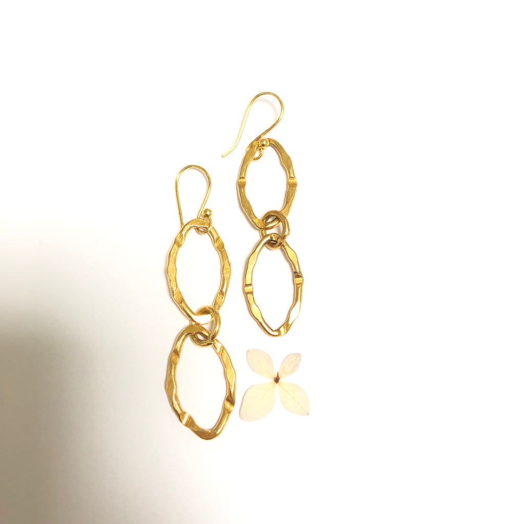 Double Link Chain Earring