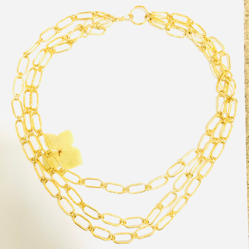 Gold Multi Link Chain Necklace