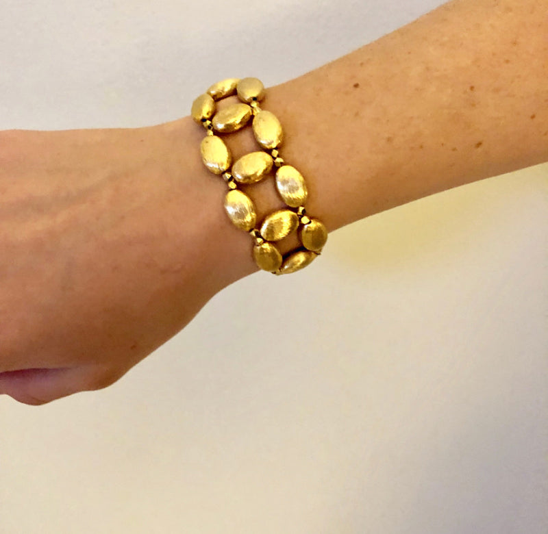 Chrochet Gold  Magnetic Bracelet