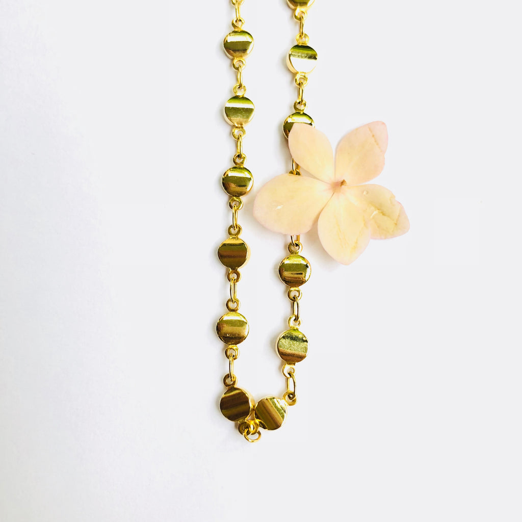 Gold Dot Everyday Chain Necklace