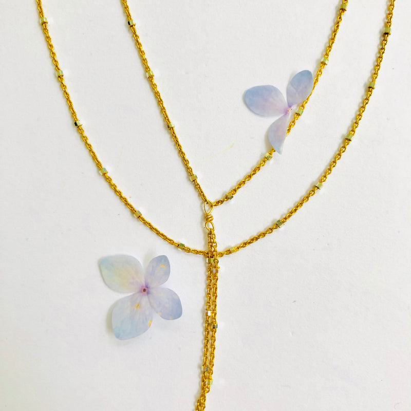 Double Gold Chain Delicate Necklace