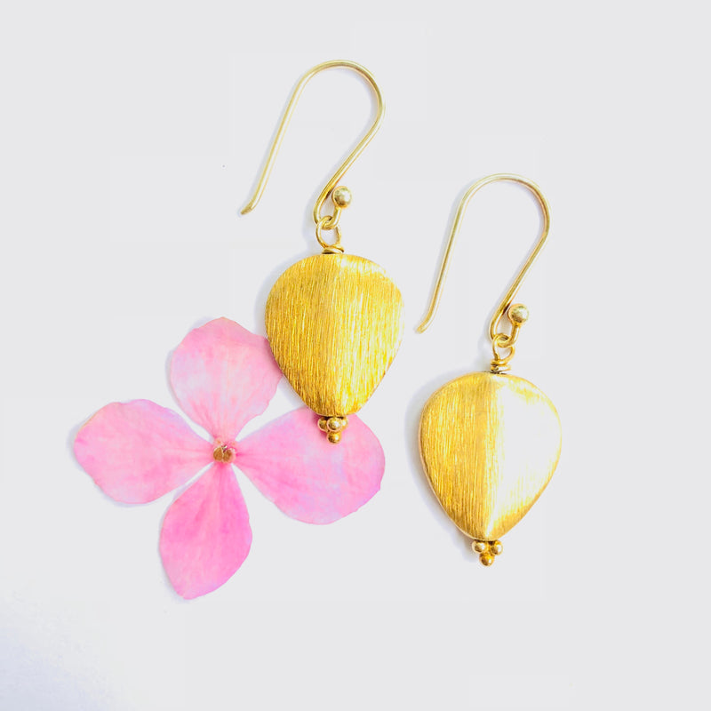 Gold Everyday Pear Shaped Earring