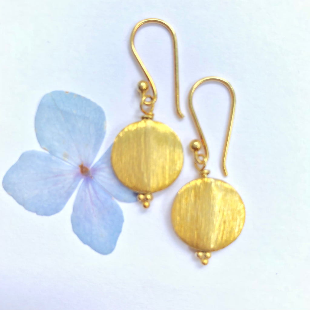 Everyday Disc Gold Drop Earring