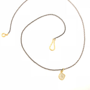 18k Gold Sliced Diamond Necklace