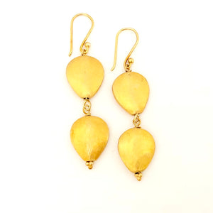 Double Everyday Gold Drop Earring