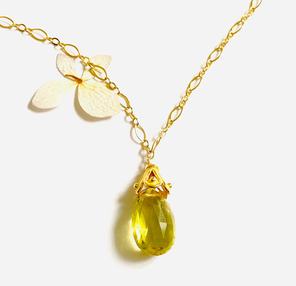 Lemon Topaz Necklace
