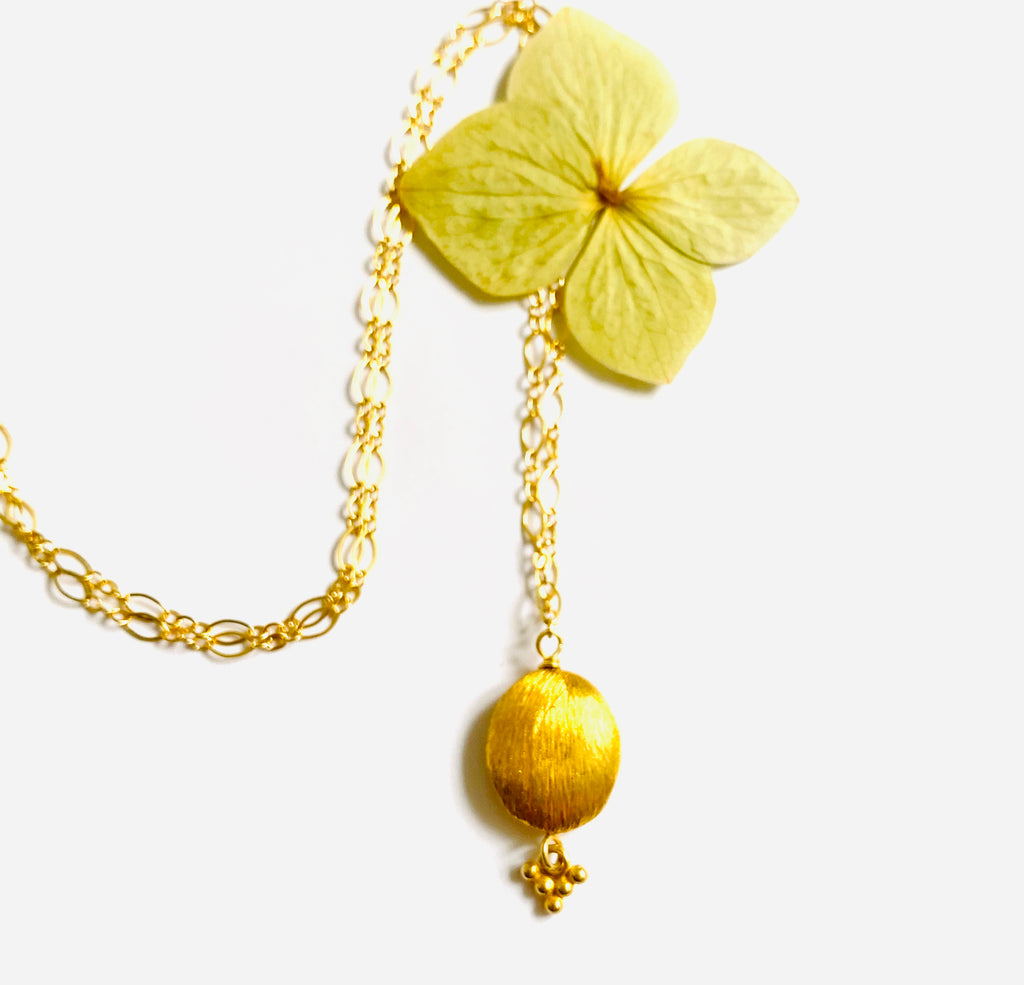 Gold Small Nugget Necklace