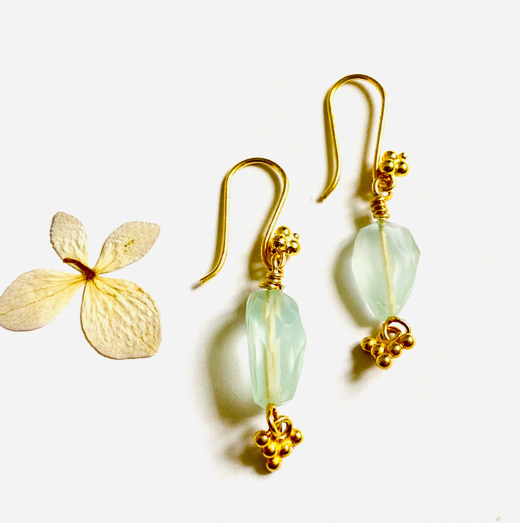 Aquamarine Drop Earring