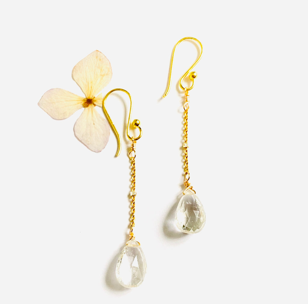 White Topaz Dangle Earring