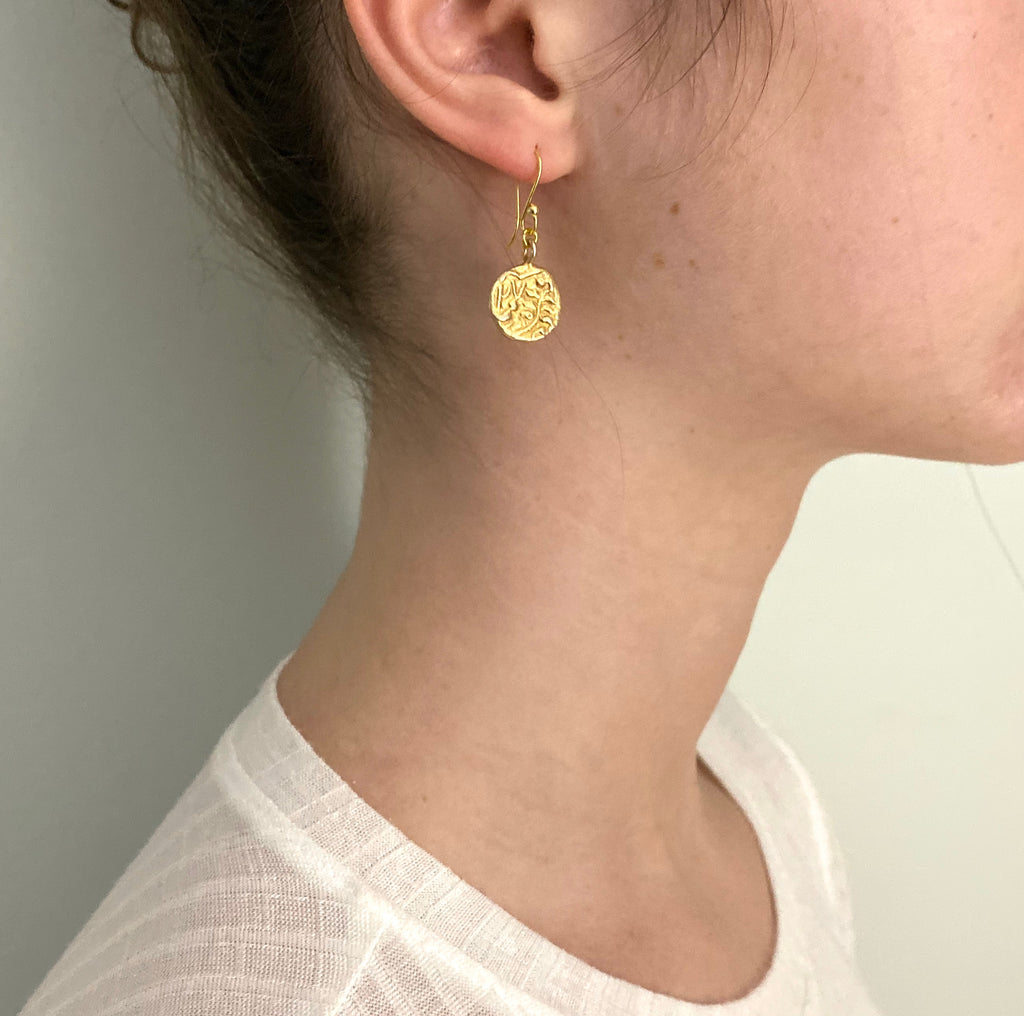 Gold Charm Gold Earrings