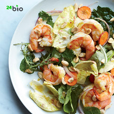 Original Salad with Shrimps and Mushrooms