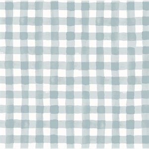 Meadow - Painted Gingham in Blue