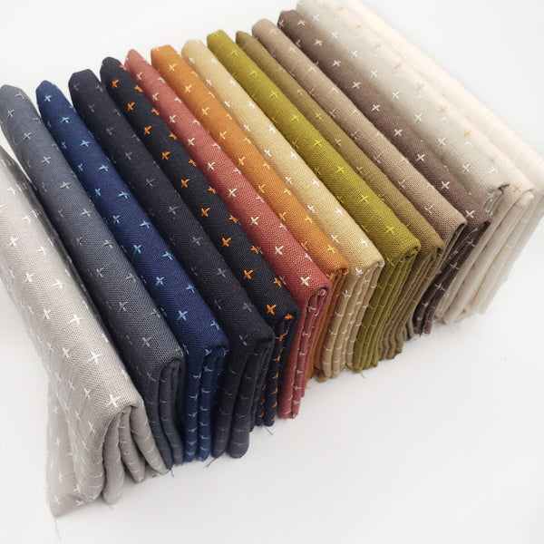 Manchester Embroidered Wovens Earth Tones Fat Quarter Bundle
