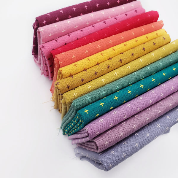 Manchester Embroidered Wovens Rainbow Fat Quarter Bundle