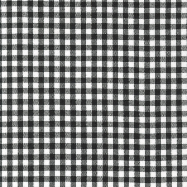 Gingham Yarn Dye - Black 1/4in