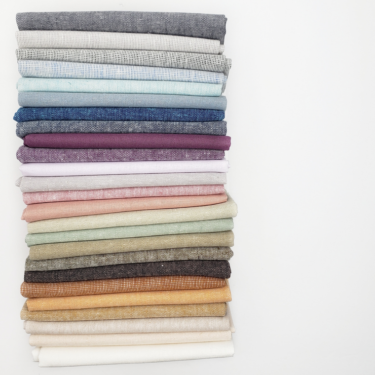 Solid Essex Linen Fat Quarter Bundle