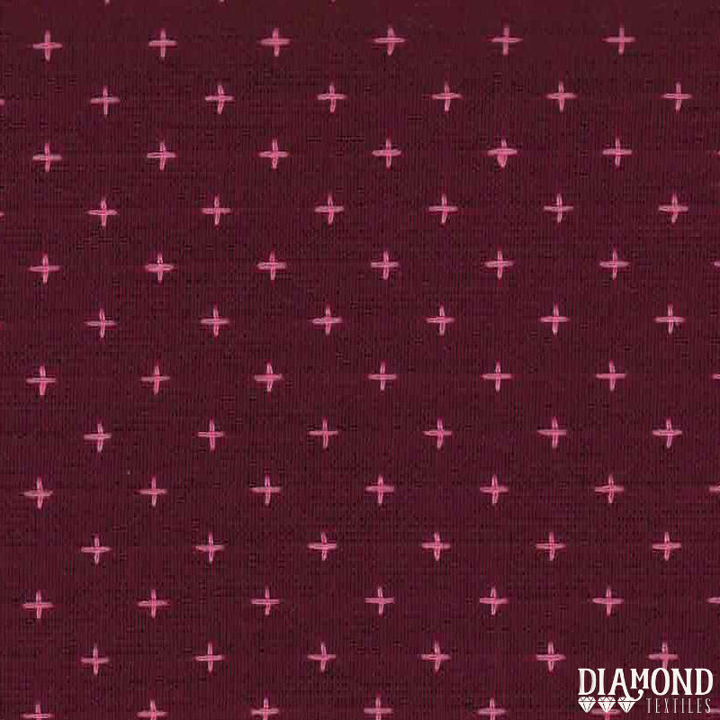 Manchester Embroidered Wovens – Wine Red