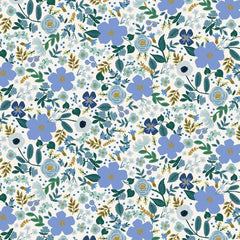 Garden Party - Wild Rose Blue w/Metallic